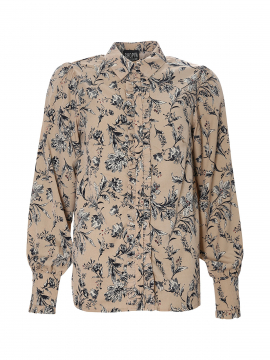 Chopin Philippa flower shirt - Sand