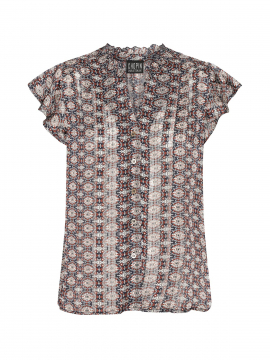 Chopin Agnes rect S/S top - Blue
