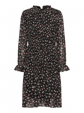 Chopin Agnete flower dress - Black
