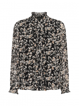 Chopin Pearl flower shirt - Black