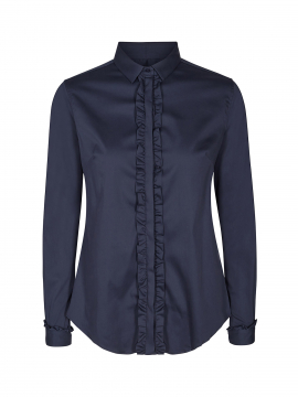 Mos Mosh Tilda Flounce shirt - Night Blue