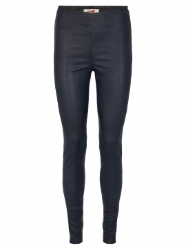Mos Mosh Lucille stretch leather legging - Salute Navy