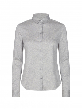 Mos Mosh Tina jersey shirt - Light grey melange