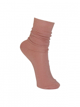 Black Colour Lurex sock - Rose
