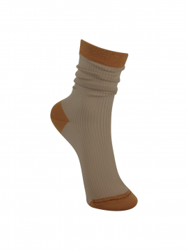 Black Colour Rib sock - Cobbernude