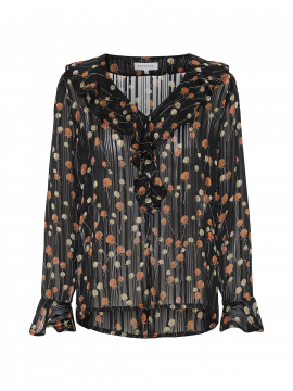 Continue Nicky L/S top - Black orange dot