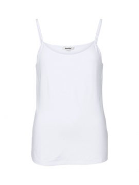 Blue on Blue Femme Tess strap top - White