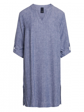 One Two Luxzuz Kathlin 3/4 stripe dress - Indigo blue