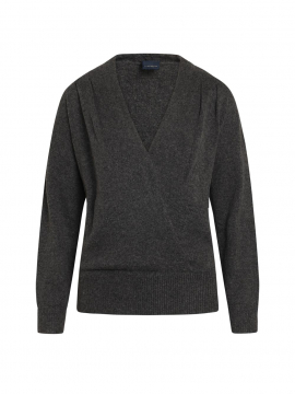 One Two Luxzuz Taimi L/S knitwear - Dark grey melange