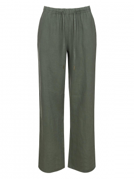 One Two Luxzuz Elilin linen pant - Army