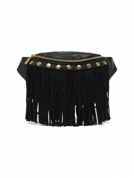 Depeche Nikita frills bum bag - Black / gold