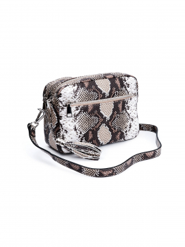 the Rubz Cindy medium snake crossbody - Brown