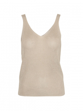 Costamani Lin lurex top - Gold