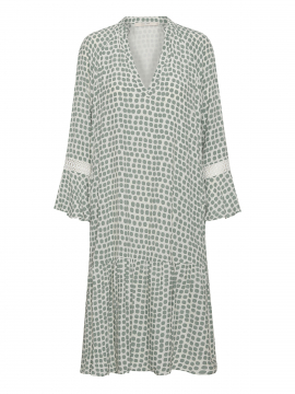 Costamani Mette dot dress - Green