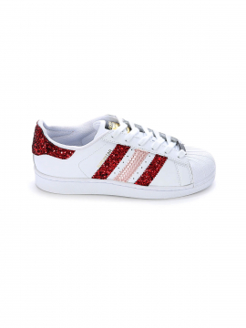 SEDDYS Adidas Superstar Red sneakers - White