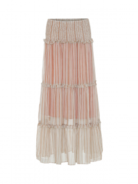 Costamani BC Mille long stripe skirt - Brown