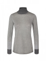 Mos Mosh Casio L/S Roll-neck - Grey melange