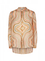 Mos Mosh Taylor swirl shirt - Sun orange printed