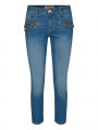 Mos Mosh Berlin satin cropped jeans - Blue
