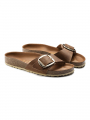 Birkenstock Madrid big buckle FL sandal - HEX Cognac
