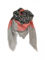 Black Colour Tanne deluxe scarf - Grey