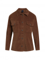 One Two Luxzuz Sif velvet shirt - Leather