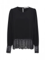 Costamani Lux solid lace top - Black