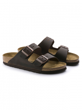 Birkenstock Arizona NU Oiled leather Narrow sandal - Habana