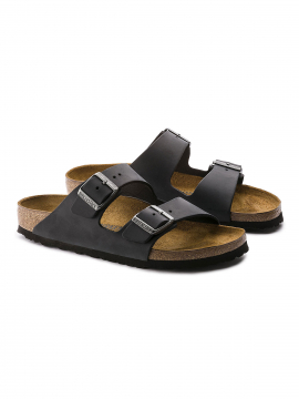 Birkenstock Arizona NU Oiled leather narrow sandal - Black