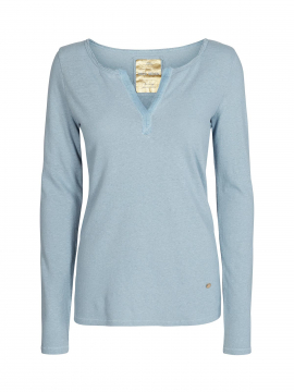 Mos Mosh Troy Tee L/S - Ice blue