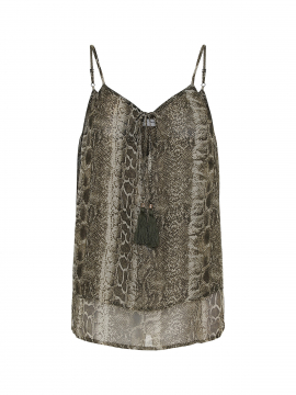 Costamani Lotte snake top - Army