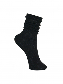 Black Colour Lurex sock - Black