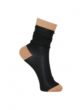 Black Colour Rib sock - Cobberblack