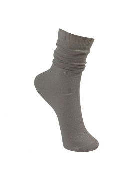 Black Colour Lurex sock - Palerose