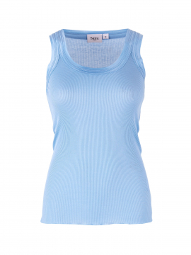 Saint tropez Silk tank top - Pl.blue