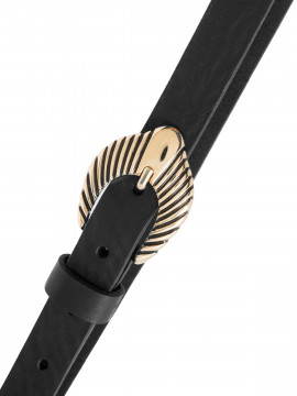 Depeche Noa western narrow belt - Black / gold