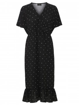One Two Luxzuz Charlotte Dot dress - Black