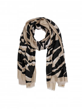 Chopin Jada Zebra scarf - Brown