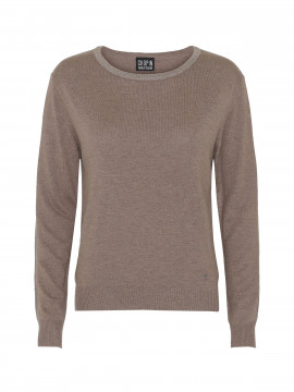 Chopin Jackie O-neck knit - Taupe