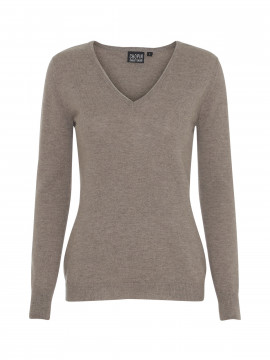 Chopin Dacia cashmere V-neck - Taupe