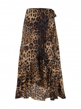 Chopin Leo long wrap skirt - Brown