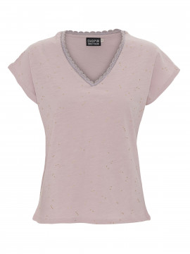 Chopin Maja gold dot Tee - Rose