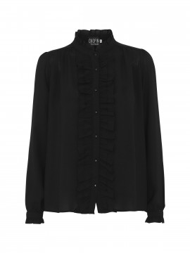 Chopin Fanny soid lace shirt - Black
