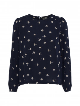 Chopin Fie bird top L/S - Blue
