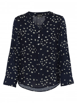 Chopin Ferosa chest nut shirt - Navy