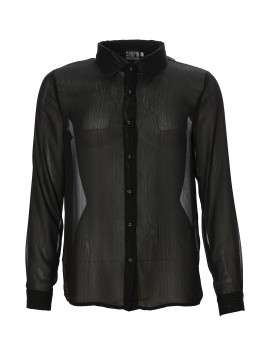 Chopin Fay gold stripe shirt - Black