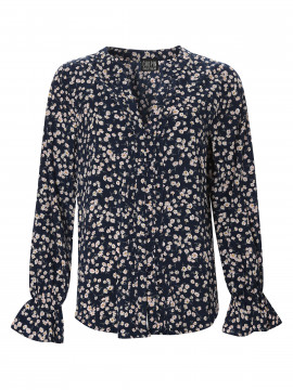 Chopin Pauline flower shirt - Navy