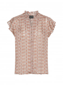 Chopin Agnes rect S/S top - Sand