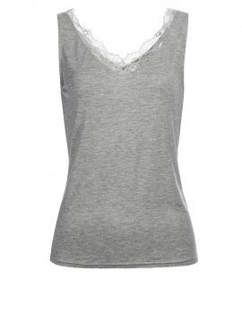 Eves Simi lace top - Grey