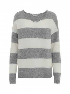 Blue Sportswear Mie softlight Alpaca and marino wool knit - Grey/milk